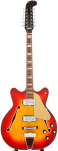 Musical Instruments:Electric Guitars, 1966 Fender Coronado XII Cherryburst 12-String Semi-Hollow Body Electric Guitar, #162876....