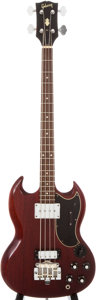 Musical Instruments:Bass Guitars, 1969 Gibson EB-3 Cherry Electric Bass Guitar, #560870....