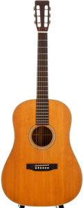 Musical Instruments:Acoustic Guitars, 1964 Martin D-28SW Natural Acoustic Electric Guitar, #194918....