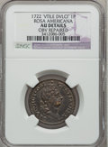 Colonials, 1722 PENNY Rosa Americana Penny, VTILE -- Obverse Repaired -- NGC Details. AU. Martin 2-A, W-1256, R.6....
