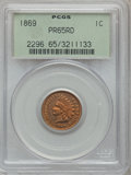Proof Indian Cents, 1869 1C PR65 Red PCGS....
