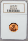 Lincoln Cents, 1928 1C MS67 Red NGC....