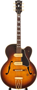 Musical Instruments:Electric Guitars, 1956 Gibson ES-350 Sunburst Semi-Hollow Body Electric Guitar,#A24974....