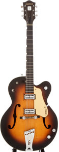 Musical Instruments:Electric Guitars, 1958 Gretsch 6117 Double Anniversary Sunburst Semi-Hollow Body Electric Guitar, #29013....