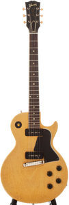 Musical Instruments:Electric Guitars, 1956 Gibson Les Paul Special TV Yellow Solid Body Electric Guitar, #611949....