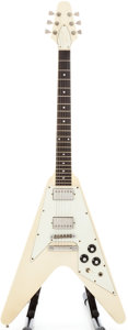 Musical Instruments:Electric Guitars, 1982 Gibson Flying V White Solid Body Electric Guitar,#80492008....