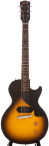 Musical Instruments:Electric Guitars, 1957 Gibson Les Paul Junior Sunburst Solid Body Electric Guitar,#71319....