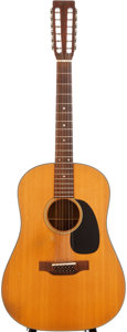 Musical Instruments:Acoustic Guitars, 1971 Martin D-12-20 Natural 12-String Acoustic Guitar, #277550....