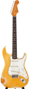 Musical Instruments:Electric Guitars, 1965 Fender Stratocaster Blonde Solid Body Electric Guitar,#181994....