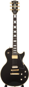 Musical Instruments:Electric Guitars, 1978 Gibson Les Paul Custom Black Solid Body Electric Guitar,#72848502....