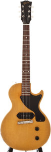 Musical Instruments:Electric Guitars, 1957 Gibson Les Paul Junior TV Yellow Solid Body Electric Guitar,#7 0149....