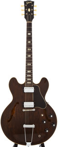 Musical Instruments:Acoustic Guitars, 1972 Gibson ES-335 Brown Semi-Hollow Body Electric Guitar,#922622....