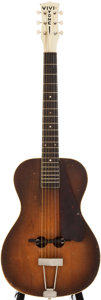 Musical Instruments:Acoustic Guitars, 1930s Vivi-Tone Sunburst Archtop Acoustic Guitar, #668???....