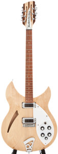 Musical Instruments:Electric Guitars, 1996 Rickenbacker 330 Natural Semi-Hollow Body Electric Guitar,#6107....