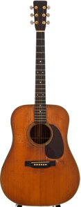 Musical Instruments:Acoustic Guitars, 1951 Martin D-28 Natural Acoustic Guitar, #119630....