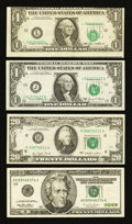 Error Notes:Error Group Lots, $1 and $20 Errors Fine-Very Fine or Better.. ... (Total: 4 notes)