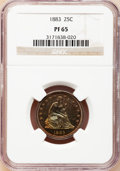 Proof Seated Quarters, 1883 25C PR65 NGC....