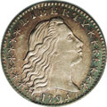 Early Half Dimes: , 1794 H10C AU58 PCGS. V-3, LM-3, R.4. Star 1 is joined to the twolowest curls. A light die crack running through the E of L...