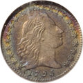 Early Half Dimes: , 1795 H10C AU50 NGC. V-5, LM-8, R.3. The Flowing Hair design, mostoften associated with the silver dollars and half dollars...