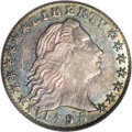Early Half Dimes: , 1795 H10C MS63 PCGS. V-4, LM-10, R.3. An early striking thatexhibits prominent obverse clash marks, but lacks the cud over...