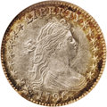 Early Dimes: , 1796 10C MS66 NGC. JR-1, R.3. This stunning Gem is a remarkableexample of the most common 1796 dime variety, instantly rec...