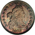 Early Dimes: , 1805 10C 4 Berries MS64 NGC. JR-2, R.2. Just two die varieties areknown, and they are easily distinguished by the berry co...