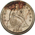 Proof Seated Dimes: , 1852 10C PR65 NGC. Breen (1988) speculated that only eight proofshad been struck of this date. Although there is no verifi...