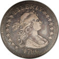 Early Quarters: , 1796 25C VF30 NGC. High 6. B-2, R.3. Only 6,146 quarters from twopairs of dies were struck in the initial year of producti...