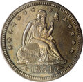 Proof Seated Quarters: , 1854 25C Arrows PR64 PCGS. This is the first of a brief two-yeardesign type, and is an important rarity in Proof format. A...
