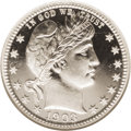 Proof Barber Quarters: , 1903 25C PR68 Cameo NGC. A completely brilliant specimen that in terms of quality and appearance is essentially as it came ...
