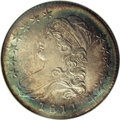 Bust Half Dollars: , 1811 50C Small 8 MS66 NGC. O-108a, R.2. This appears to be aparticularly late die state, as significant die clashing is vi...