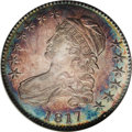 Bust Half Dollars: , 1817 50C MS66 ★ NGC. O-110a, R.2 . A triple denticle above star 13attributes the variety. A ...