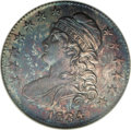 Proof Bust Half Dollars: , 1834 50C Large Date, Large Letters PR67 NGC. O-101, R.7 in proof.The forecurl is one solid piece, line 1 of stripe 5 penet...