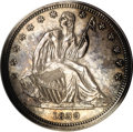 Proof Seated Half Dollars: , 1839 50C No Drapery PR64 PCGS. Proof examples of the 1839 halfdollar were allegedly struck on August 13, 1839. One proof a...
