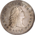 Early Dollars: , 1795 $1 Flowing Hair, Two Leaves MS64 Prooflike NGC. B-2, BB-20,R.3. This is a memorable Flo...