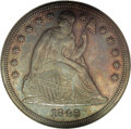 Proof Seated Dollars: , 1846 $1 PR62 NGC. Prior to 1858, proofs were not coined with anyregularity or with any real ...