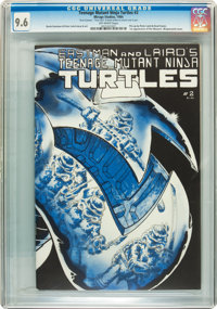 Teenage Mutant Ninja Turtles #2 First Printing - Signed by Kevin Eastman and Peter Laird with Sketch (Mirage Studios, 19...