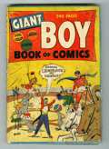Golden Age (1938-1955):Crime, Giant Boy Book of Comics #1 (Newsbook, 1945) Condition: GD....