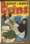 Magazines:Humor, Army & Navy Grins #1-5 Bound Volume (Harvey, 1944-45)....