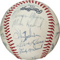 Autographs:Baseballs, 1970 New York Yankees Team Signed Baseball with Rookie Munson....