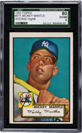 Baseball Cards:Singles (1950-1959), 1952 Topps Mickey Mantle #311 SGC 80 EX/NM 6 - A Fresh to The HobbyFind....