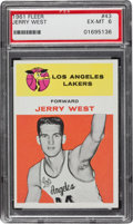 Basketball Cards:Singles (Pre-1970), 1961 Fleer Jerry West #43 PSA EX-MT 6....