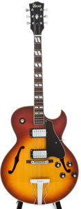 Musical Instruments:Electric Guitars, Circa Late 1970's Ibanez ES-175 Sunburst Archtop Electric Guitar...