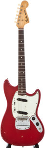 Musical Instruments:Electric Guitars, 1965 Fender Mustang Red Solid Body Electric Guitar, Serial #L63252....