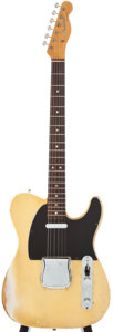 Musical Instruments:Electric Guitars, Circa 1966 Fender Esquire Blonde Solid Body Electric Guitar....