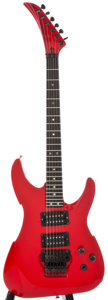 Musical Instruments:Electric Guitars, 1980's Peavey Vandenberg Red Solid Body Electric Guitar, SerialNumber #00002877....