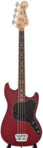 Musical Instruments:Bass Guitars, 1978 Fender Musicmaster Bass Trans Red Electric Bass Guitar, Serial Number #S842697....