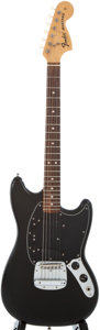 Musical Instruments:Electric Guitars, 1975 Fender Mustang Black Solid Body Electric Guitar, #586839....