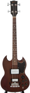 Musical Instruments:Bass Guitars, 1970's Gibson EB-3 Cherry Electric Bass Guitar, Serial Number #14061....