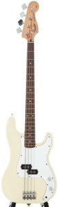 Musical Instruments:Bass Guitars, 1993 Fender Precision Bass White Electric Bass Guitar, Serial Number #CN319777....